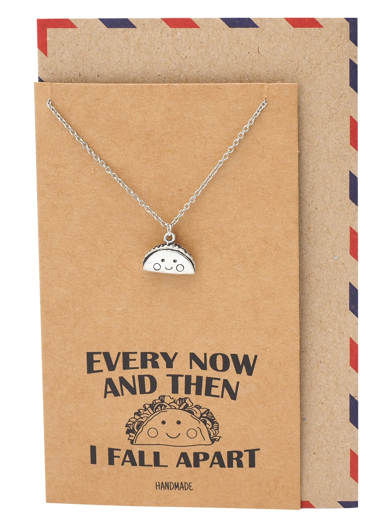 Loisa Taco Pendant Necklace Every Now And Then I Fall Apart Jewelry Gift