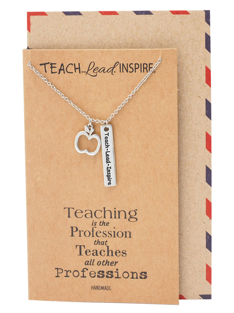 Lucia Teacher Quotes Gifts Inspirational Jewelry and Thank ...