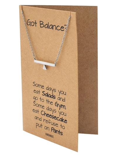 Janine Balance Pendant Necklace for Women Greeting Card
