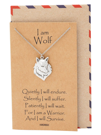 Malen Wolf Necklace for Men and Women