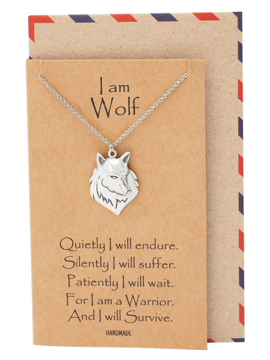 Malen Wolf Necklace for Men and Women, Inspirational Jewelry