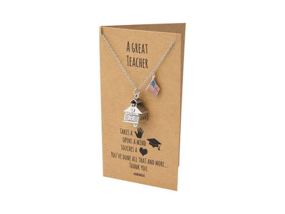 John Cotton School House Bell USA Necklace