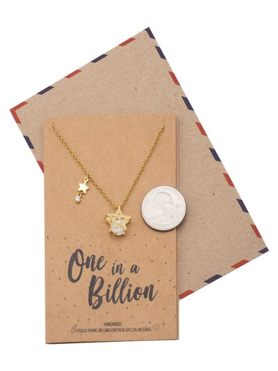 Shantal Stars and Diamonds Pendant Necklace, One in a Billion Gifts for Best Friends