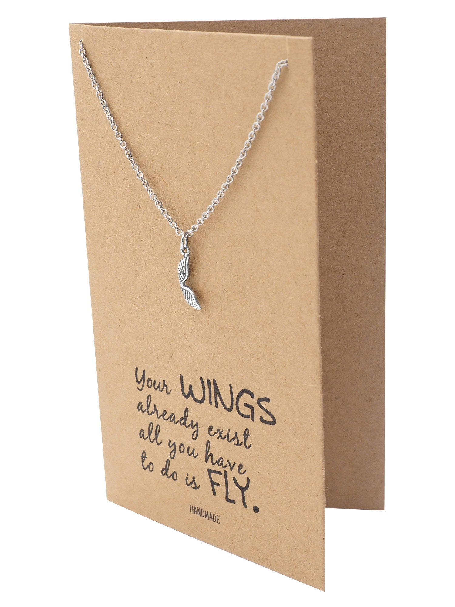 Adannaya Graduation Gifts for Her, Wing Necklace ...