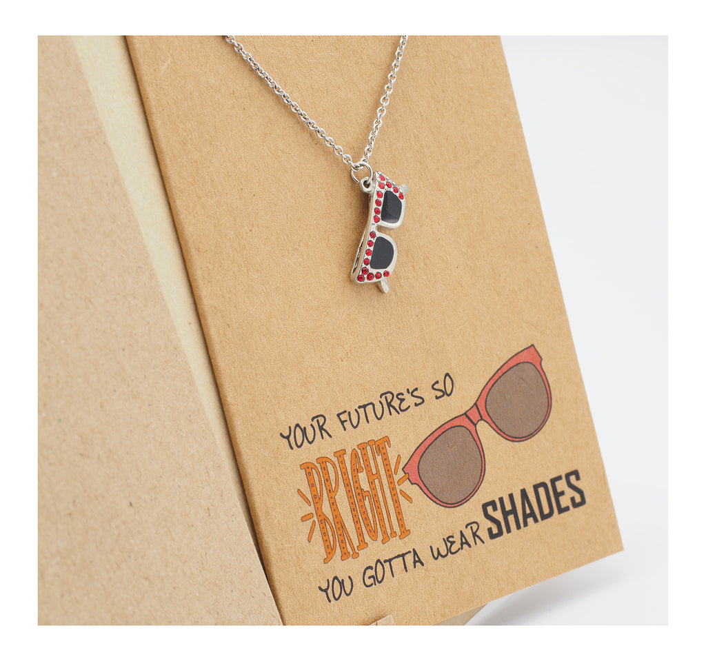 Sunglasses Pendant Necklace, Graduation Gifts, Birthday Cards, Funny Quotes, Inspirational Quote Cards - Quan Jewelry