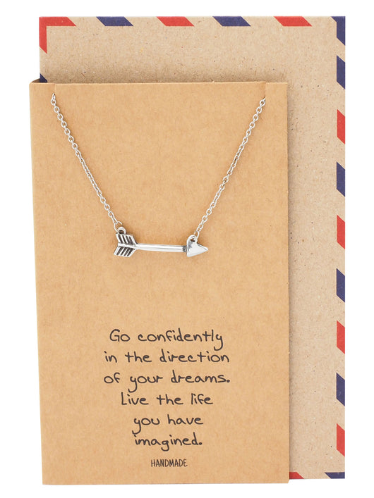 Jedi Arrow Charm Necklace, Graduation Gifts - Quan Jewelry