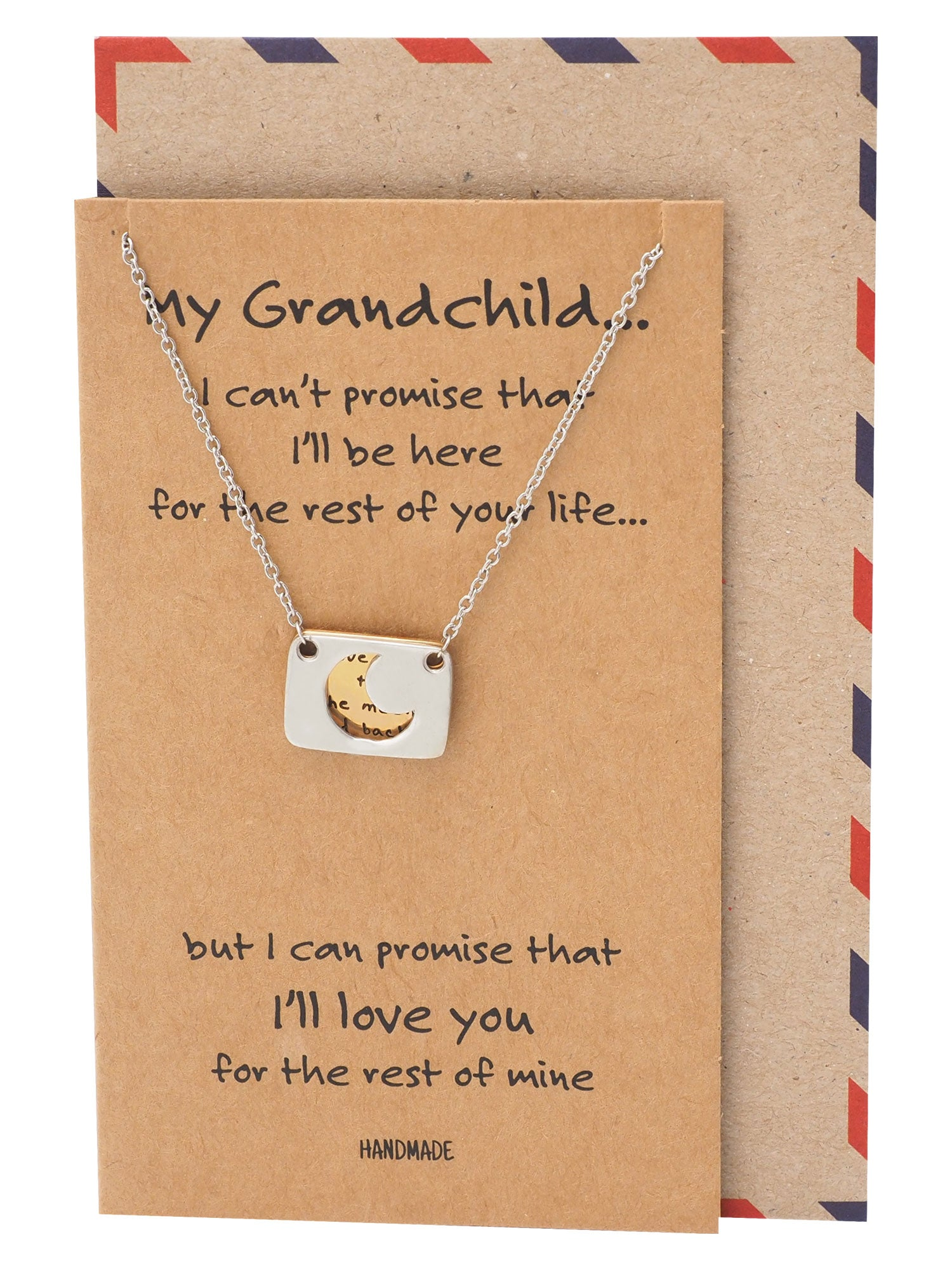 Rica Love You to the Moon and Back Necklace and Greeting Card