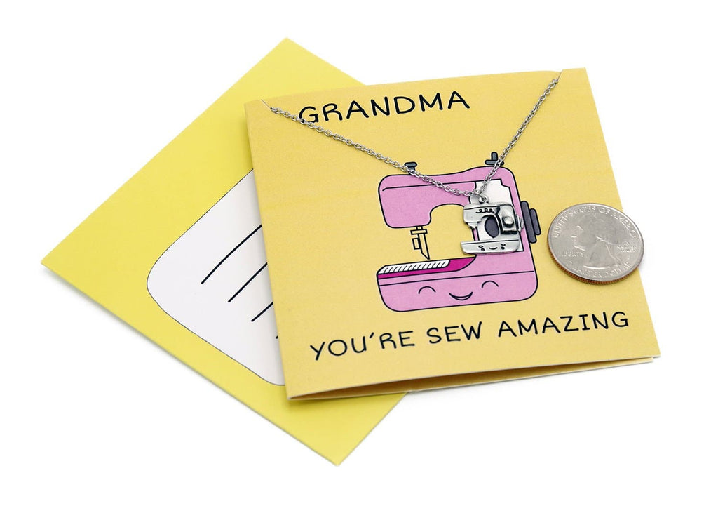 Ami Grandma Necklace Funny Puns Gifts for Grandma, You're Sew Amazing