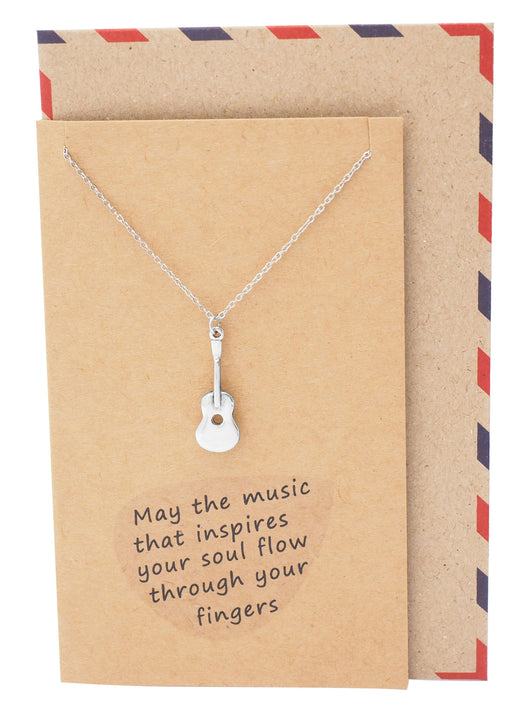 Jada Guitar Necklace, Inspirational Jewelry, Bling Gifts for Music Lovers - Quan Jewelry