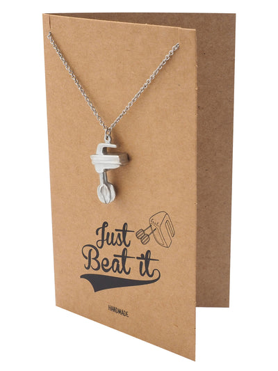 Agatha Baker Necklace with Mixer Pendant Best Gift for Cook and Bakers