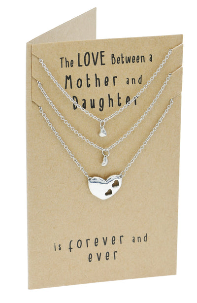 Ivy Gifts for Mom Mother Daughter Heart Necklace