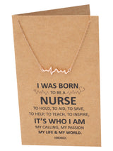 Macaria Electrocardiogram Heartbeat Necklace, Nurse Gifts