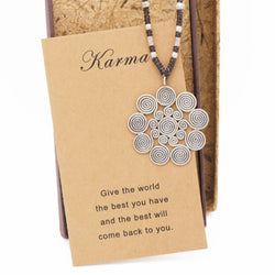 Rada Karma Necklace, Silver - Quan Jewelry - 1