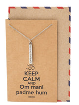 Cadence Om Bar Pendant Necklace, Yoga Jewelry for Women - Quan Jewelry