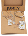 Joie Father Mother Daughter Necklace Set