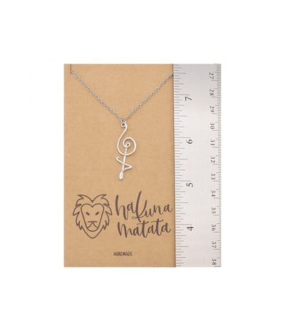 Damica Hakuna Matata Pendant Necklace, Gifts for Women with Inspirational Quote on Greeting Card