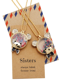 Izzy Little Sister Big Sister Bear Necklaces, Jewelry Gifts for Women - Quan Jewelry