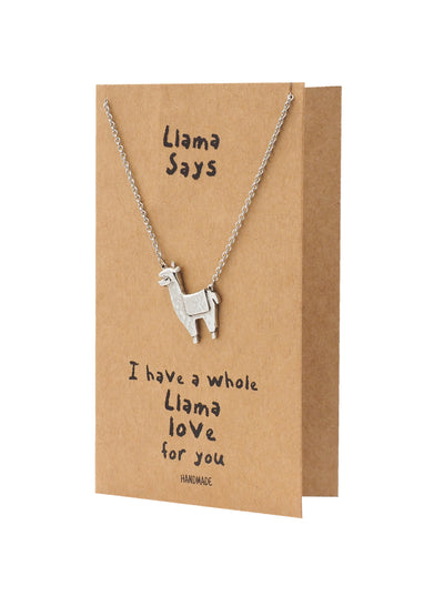 Rae Llama Pendant Necklace, Birthday Gifts for Best Friend