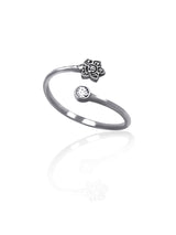 Hannah Lotus Flower Ring, Yoga Gifts, Om Rings for Women - Quan Jewelry