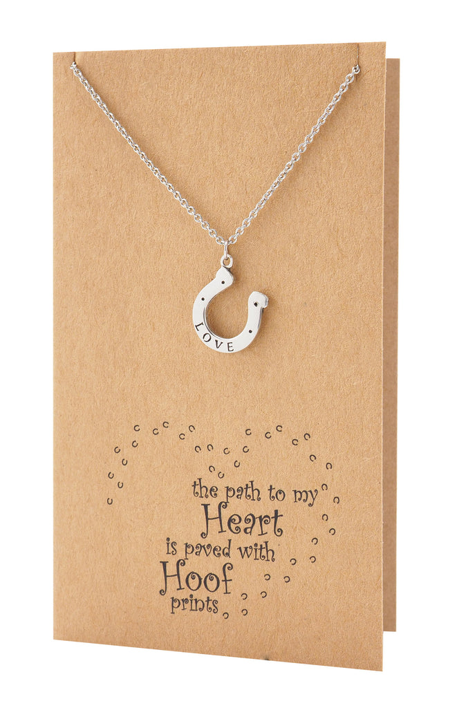 Lacey Lucky Horseshoe Necklace, Gifts for Horse Lovers