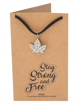 Lyla Maple Leaf Pendant Choker Necklace, Best Friend Jewelry, Gifts for Women