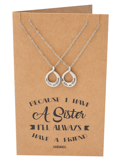 Roxanne 2 Set of Infinity Pendant Necklace, Gifts for Soul Sisters, Inspirational Jewelry