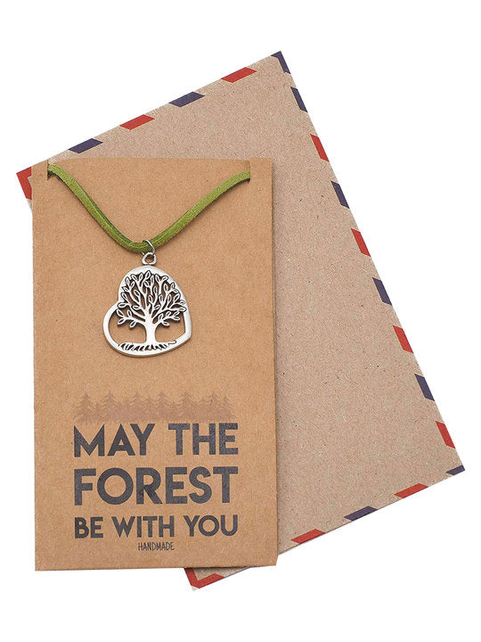 Melanie Heart and Tree of Life Pendant Necklace Infinity Love for Family Jewelry