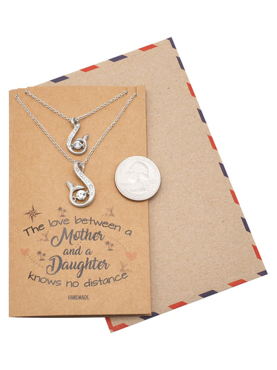 Mother Daughter Set of 2 Necklaces