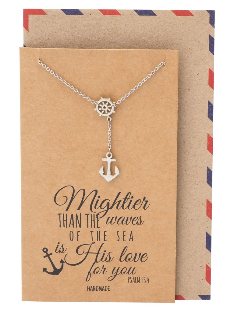 Joyce Nautical Anchor Necklace for Women