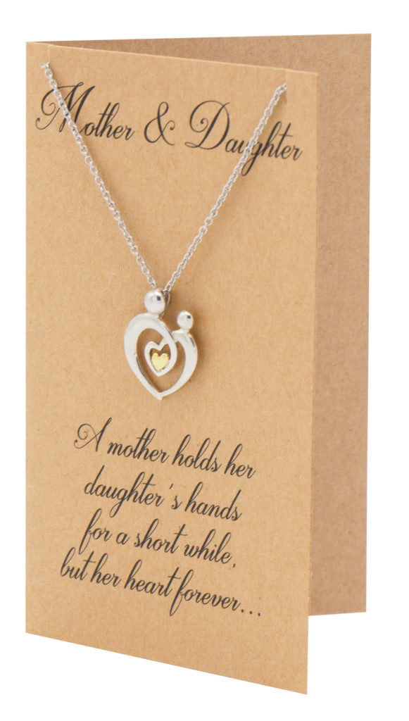 Evie Mother's Heart Necklace, Mothers Day Jewelry,  - Quan Jewelry - 4