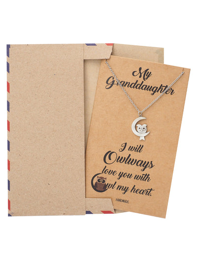 Granddaughter Necklace with Greeting Card