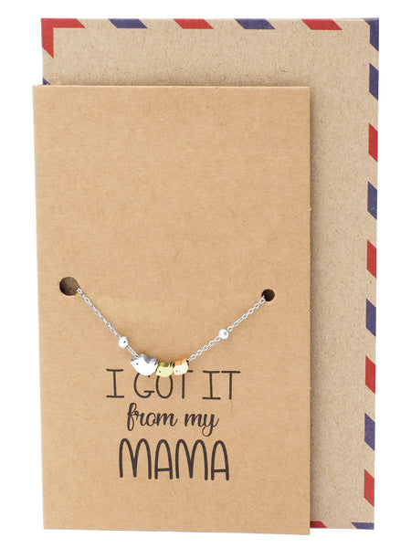 Krizia Mother Daughter Bird Bracelet, Mom Jewelry Gifts and Greeting Card - Quan Jewelry