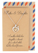 Evie Mother's Heart Necklace, Mothers Day Jewelry, Silver - Quan Jewelry - 1