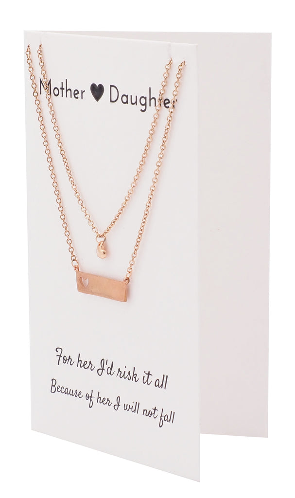 a3d7f6085 Riva Heart Bar Mother Daughter Necklace Set, Gifts for Mom Jewelry – Quan  Jewelry