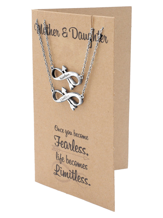 Erika mother daughter necklace arrow infinity engraved jewelry for erika mother daughter necklace arrow infinity engraved jewelry for women and mothers day card m4hsunfo