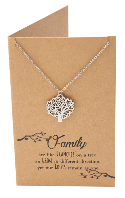 Zena Mothers Day Gifts Family Tree Necklace