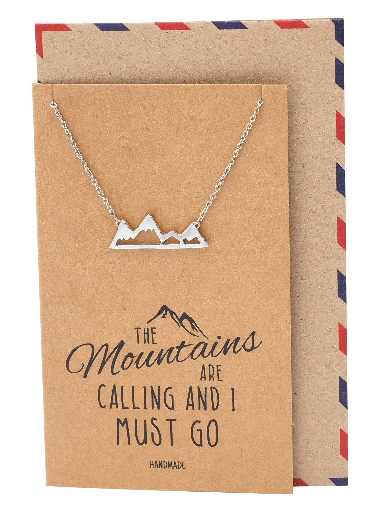 Cristina Necklace for Women, Adventure and Outdoor Lovers, Mountains Jewelry Gift - Quan Jewelry