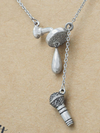 Selah Shower and Mic Pendant Necklace
