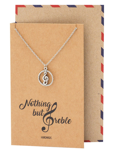 Eileen Music G-clef Note Pendant Necklace