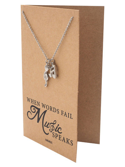 Mara Music Note Necklace