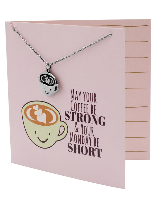 Olive Funny Puns Birthday Cards Necklace Gifts For Coffee Lovers
