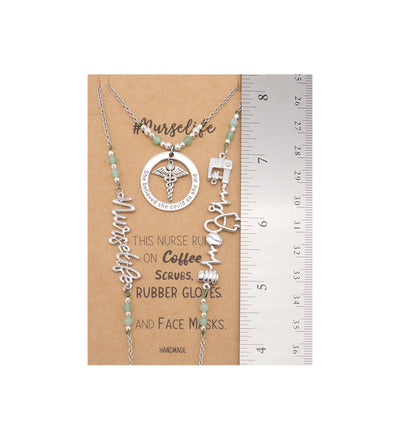 Quiana Nurse Face Mask Lanyard Necklace with Inspirational Greeting Card