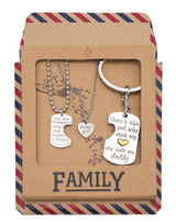 Joie Father Mother Daughter Necklace Set, Gifts for Parents - Quan Jewelry