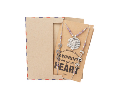 Jaila Pawprints Face Mask Lanyard Necklace with Inspirational Greeting Card