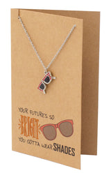 Sunglasses Necklace, Funny Happy Birthday Greeting Cards - Quan Jewelry
