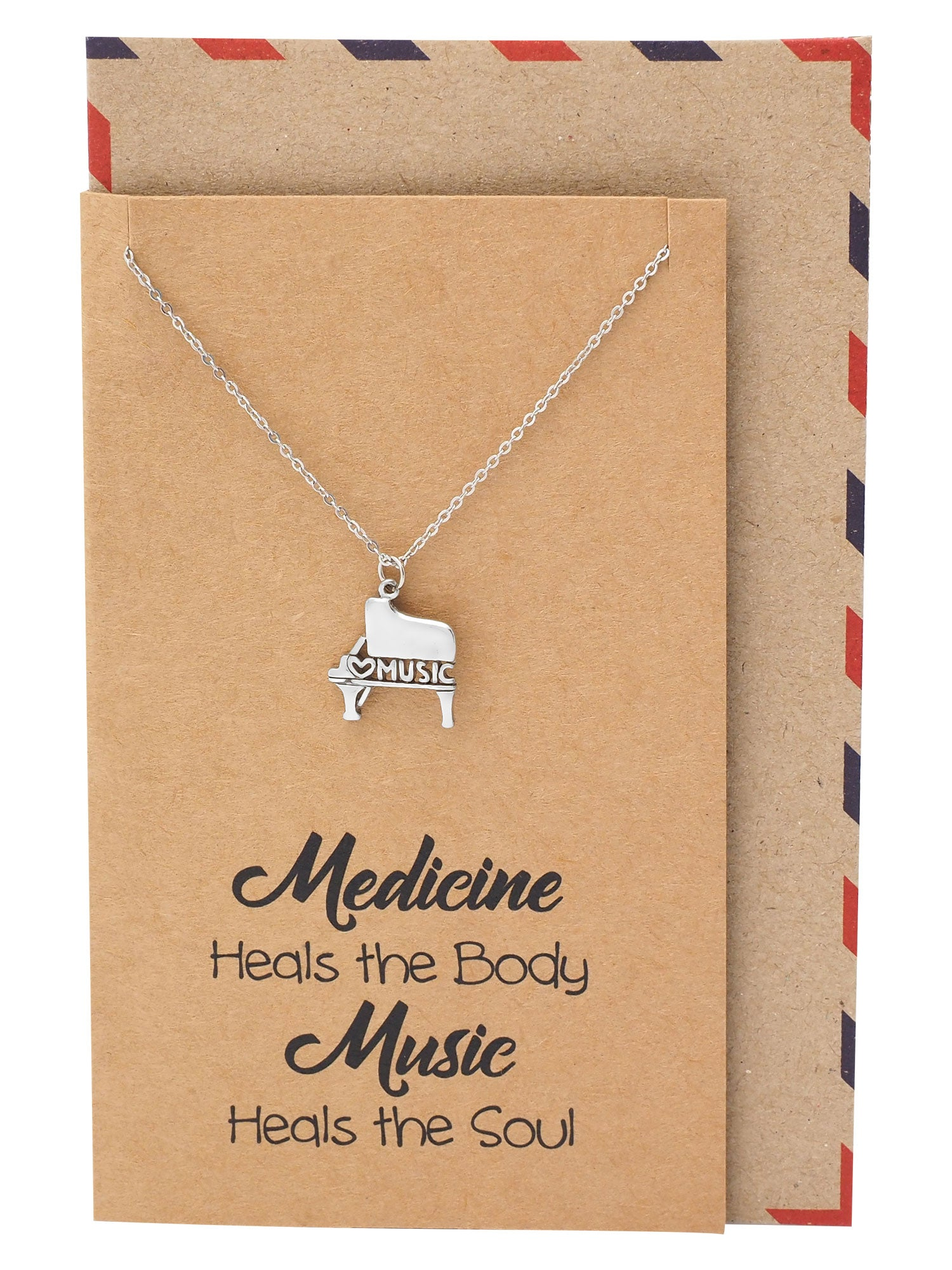 Quinzel Birthday Gifts Music Necklace, Gifts for Music Lovers
