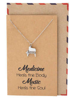 Quinzel Birthday Gifts Music Necklace For Lovers