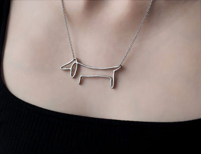 Saanvi Dog Pendant Necklace for Women with Greeting Card