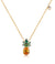 Willa Pineapple Charm Necklace for Women Gifts for Fruit and Food Lovers