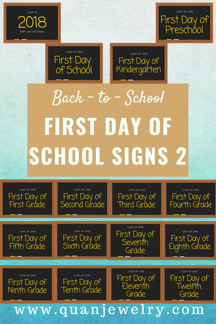 Free Back-to-School Printables First Day of School Signs Part 2